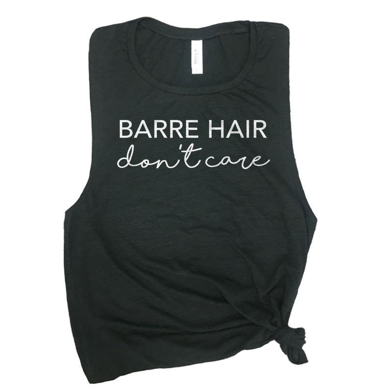 Barre Hair Don't Care Muscle Tee