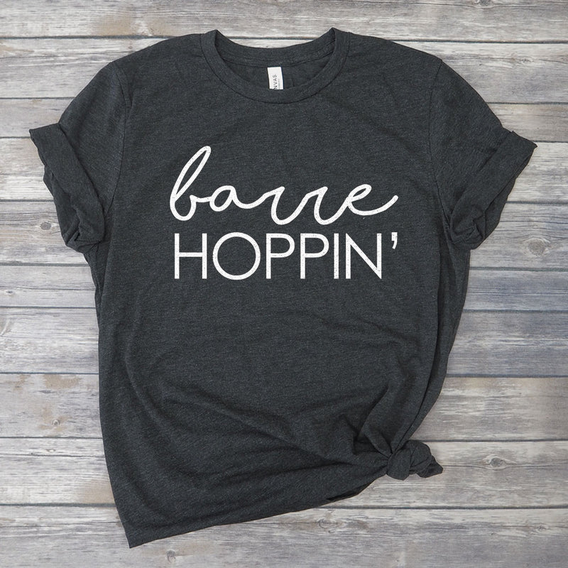 Barre Hoppin' Funny Pure Barre Workout T-Shirt
