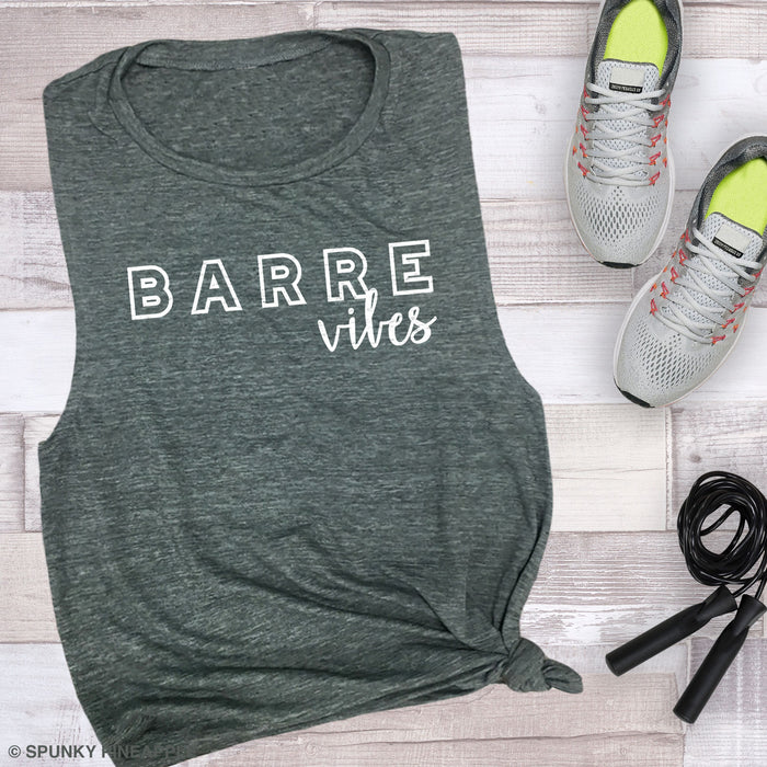Barre Vibes Muscle Tee