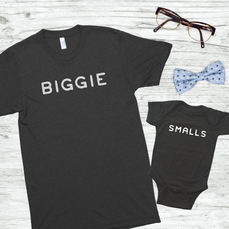 Biggie & Smalls Unisex/Infant Bodysuit Shirt Set