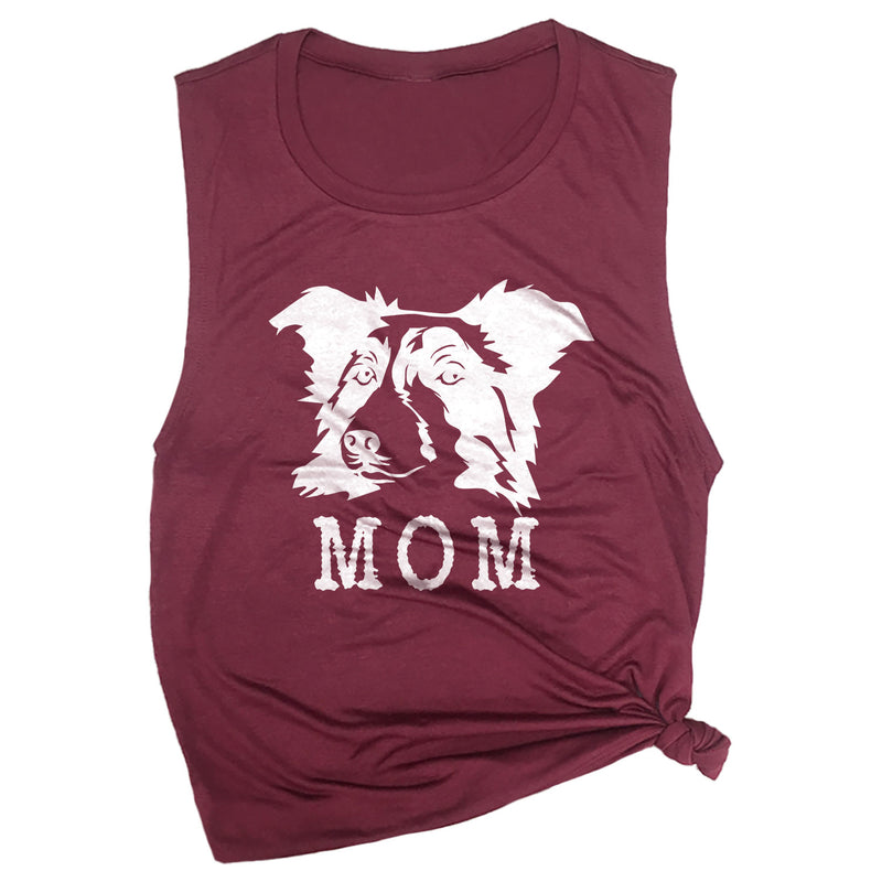 Border Collie Mom Muscle Tee
