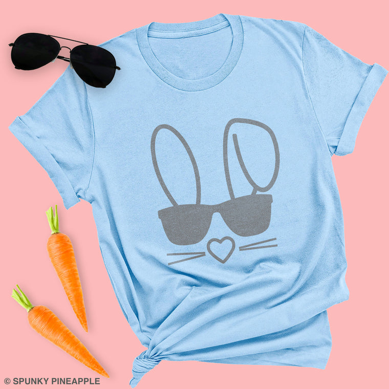 Easter Bunny with Sunglasses Premium Unisex T-Shirt