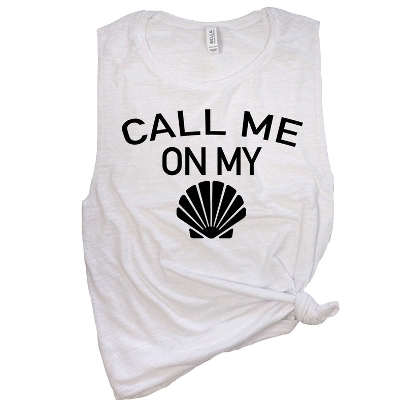 Call Me On My Shell Muscle Tee