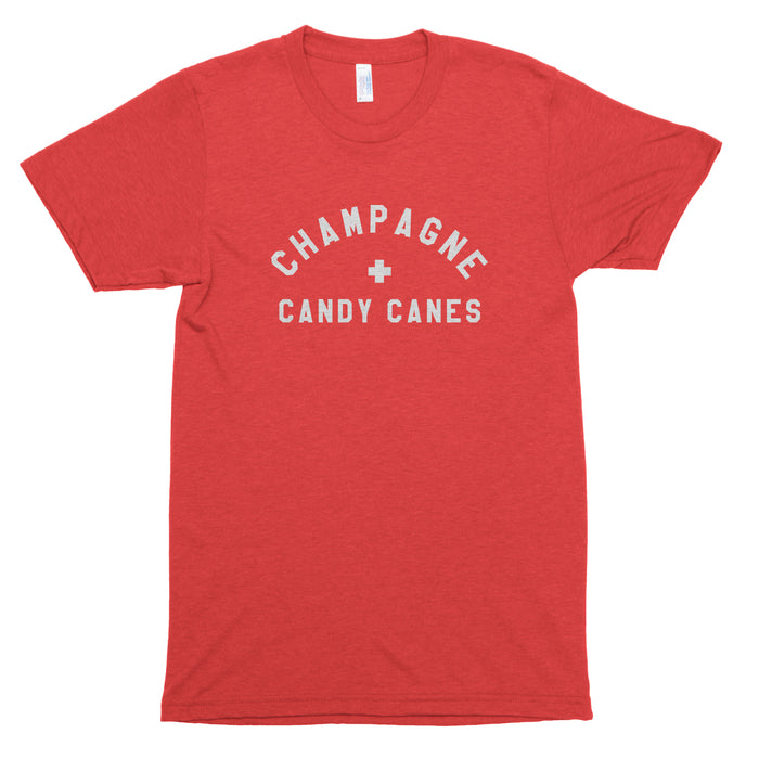 Champagne & Candy Canes Premium Unisex T-Shirt