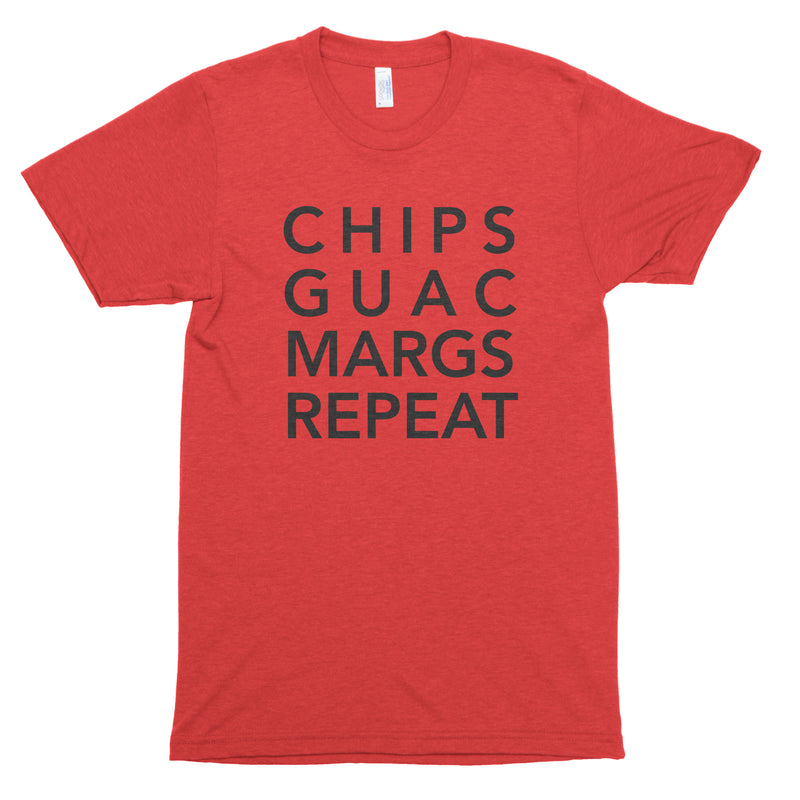 Chips Guac Margs Repeat Premium Unisex T-Shirt