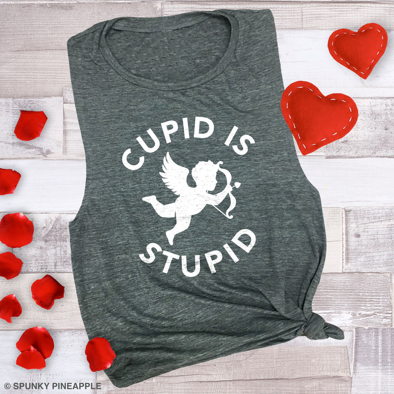 Cupid is Stupid Muscle Tee
