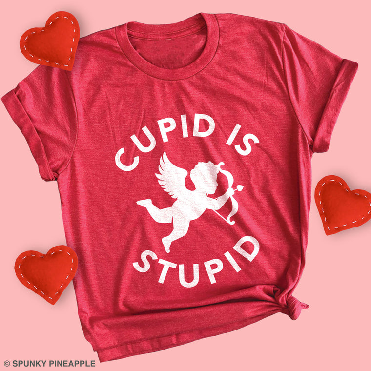 Cupid is Stupid Basic Tee