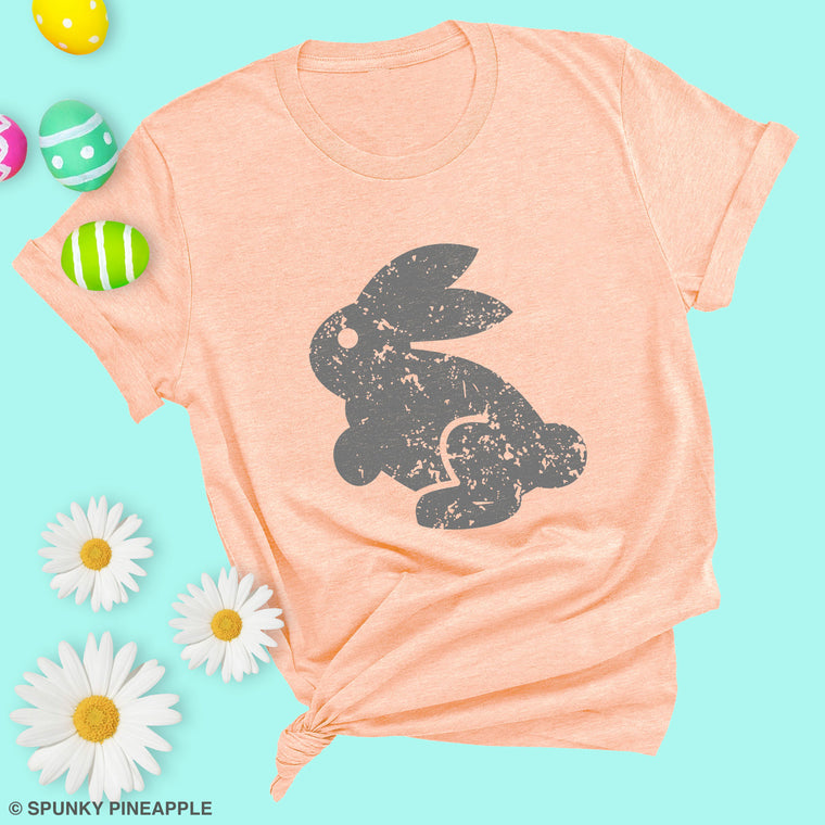 Distressed Easter Bunny Premium Unisex T-Shirt