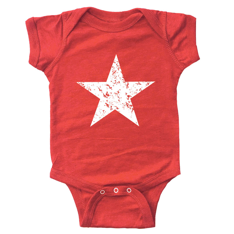 Distressed Star Infant Bodysuit