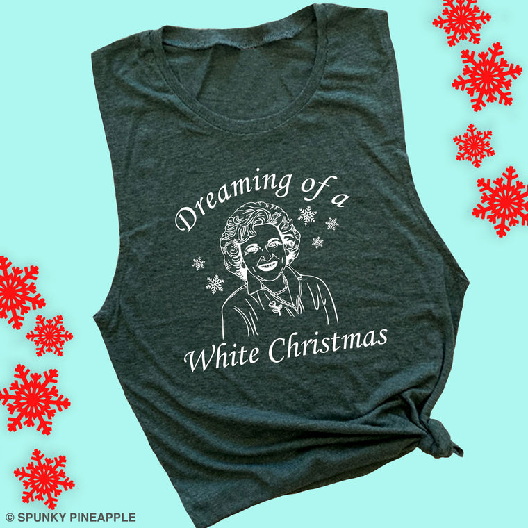 Dreaming of a White Christmas Muscle Tee