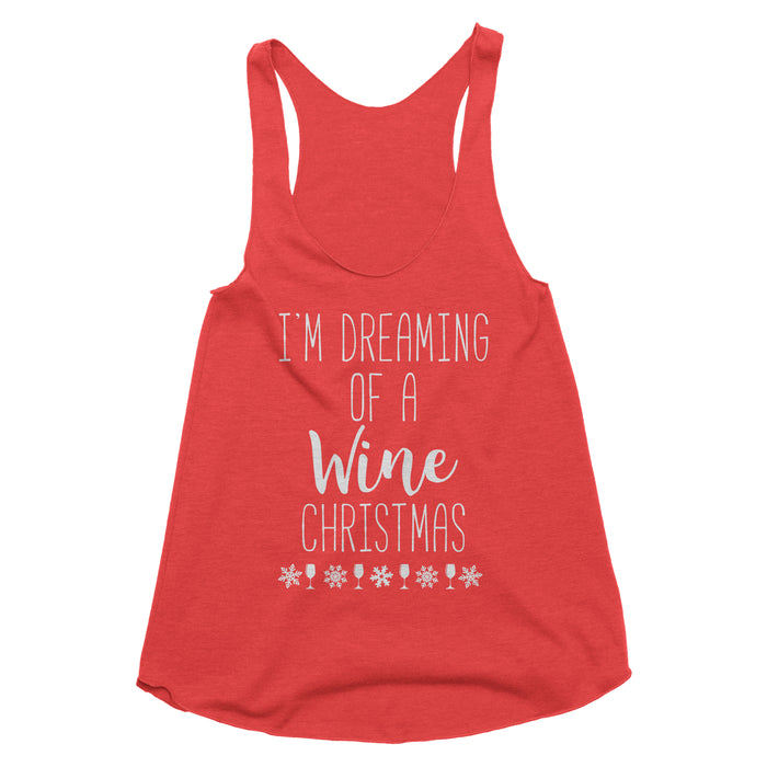 I'm Dreaming of a Wine Christmas Tank Top