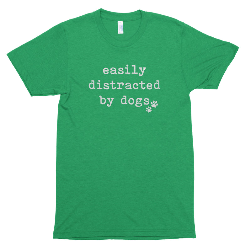 Easily Distracted by Dogs Premium Unisex T-Shirt
