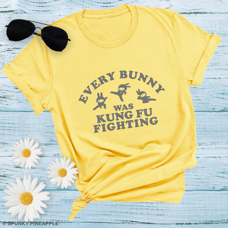 Every Bunny was Kung Fu Fighting Premium Unisex T-Shirt