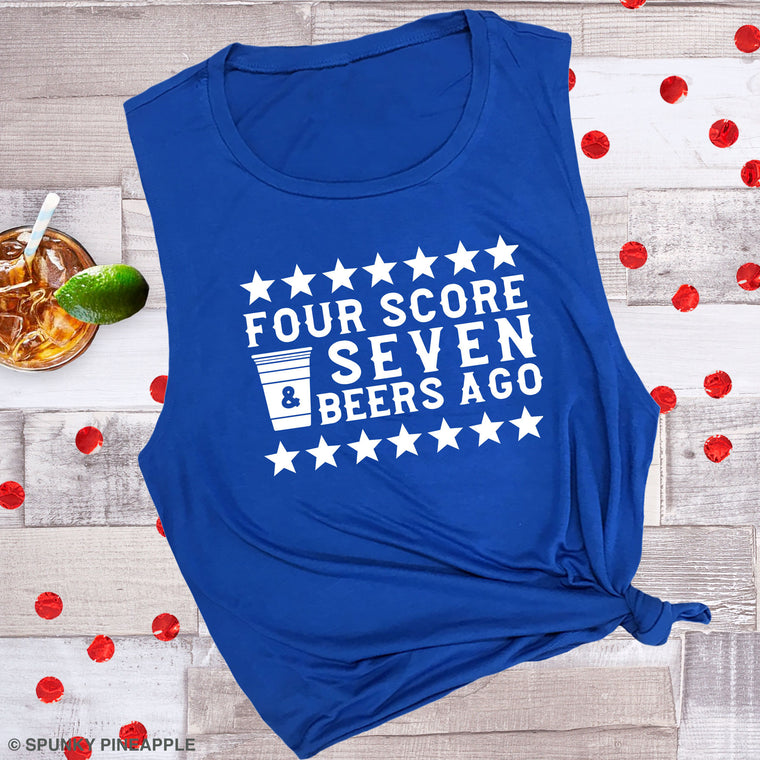 Four Score & Seven Beers Ago Muscle Tee