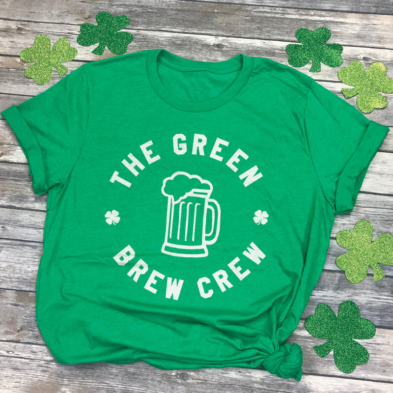 The Green Brew Crew Beer St Pattys Drinking T-Shirt
