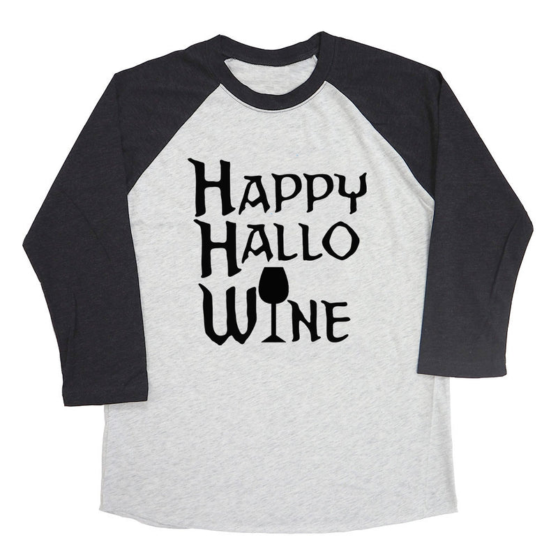Happy Hallo Wine Raglan Tee
