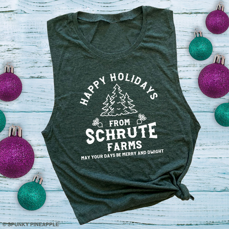 Happy Holidays from Schrute Farms Muscle Tee
