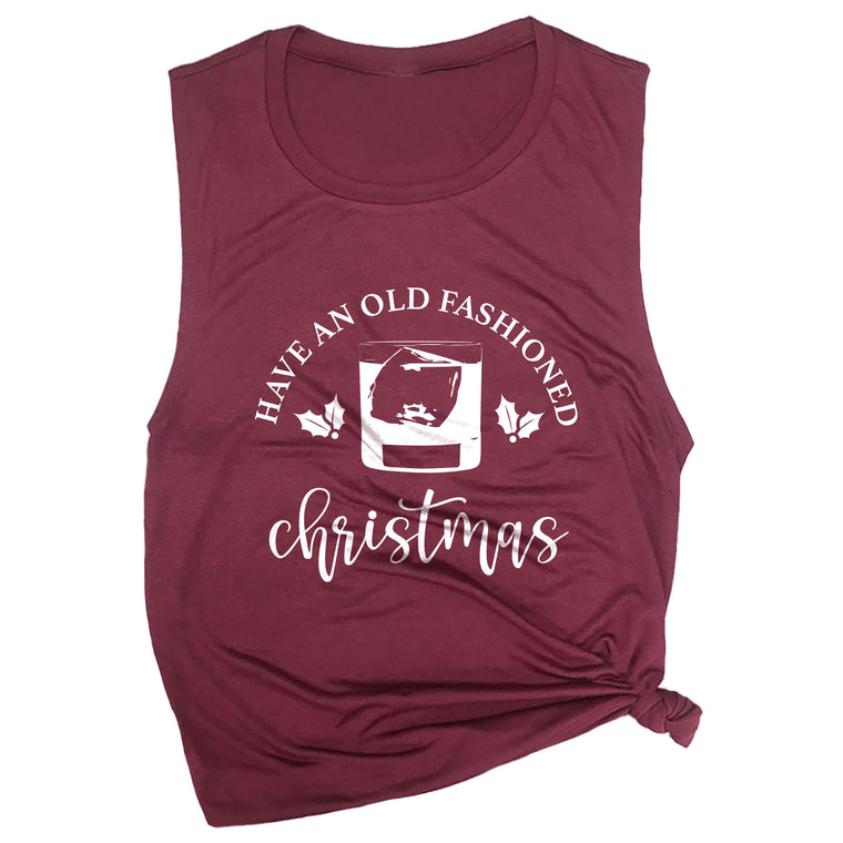 Have An Old Fashioned Christmas Muscle Tee