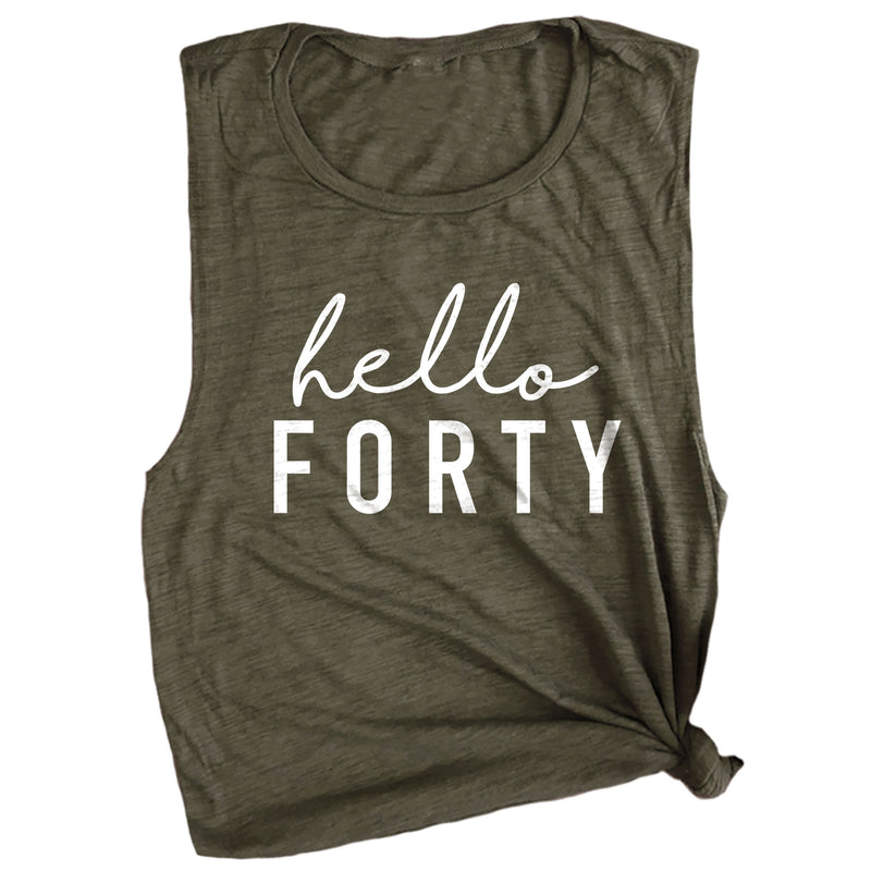 Hello Forty Muscle Tee