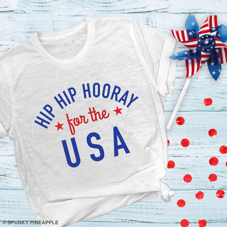 Hip Hip Hooray for the USA Basic Tee
