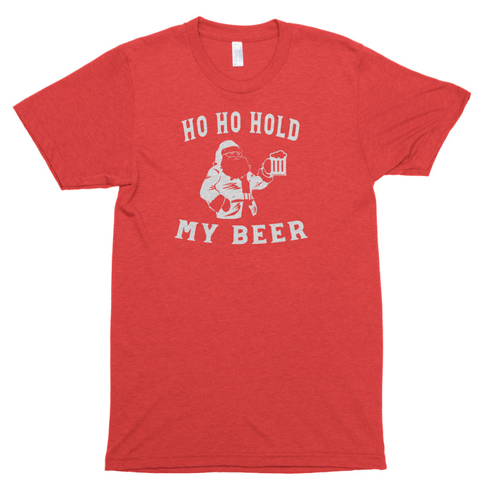 Ho Ho Hold My Drink Premium Unisex T-Shirt