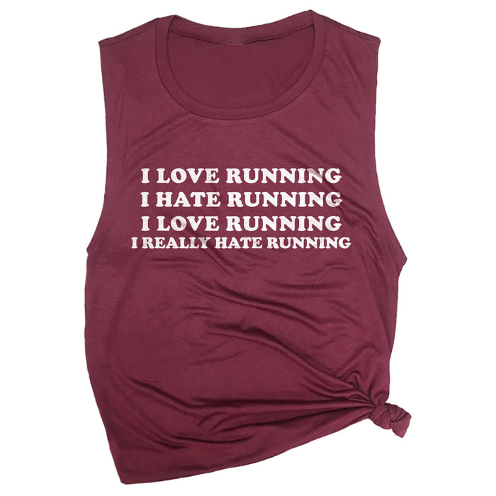 I Love Running, I Hate Running Muscle Tee