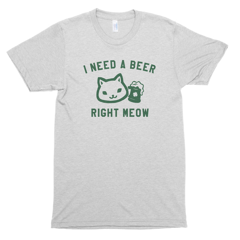 I Need a Beer Right Meow Premium Unisex T-Shirt