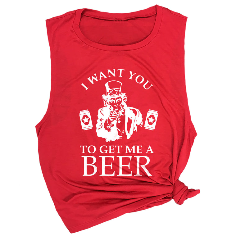 I Want You to Get Me a Beer Muscle Tee