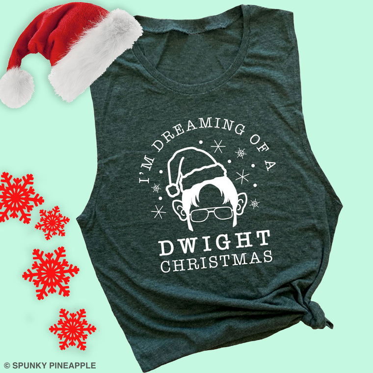 I'm Dreaming of a Dwight Christmas Muscle Tee