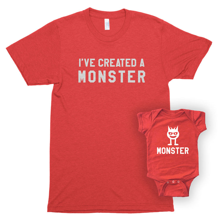 I've Created a Monster & Monster Unisex/Infant Bodysuit Shirt Set