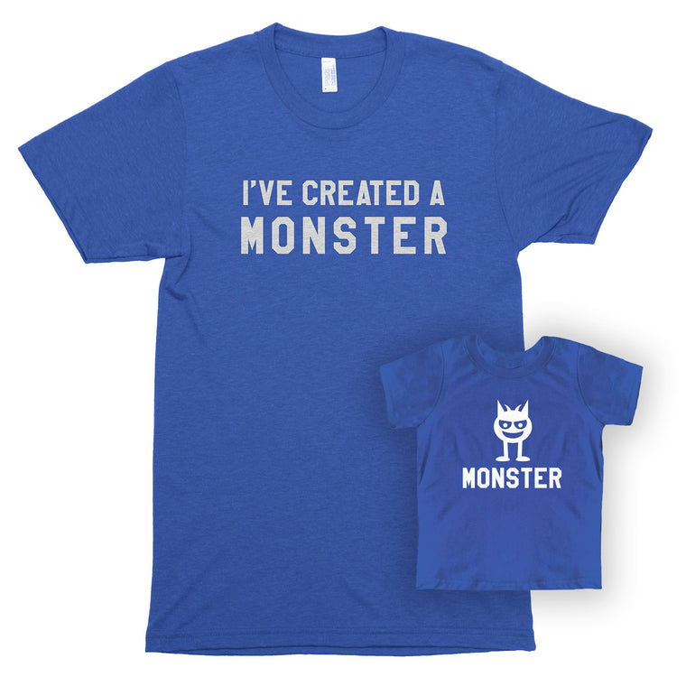 I've Created a Monster & Monster Unisex/Toddler Jersey Shirt Set