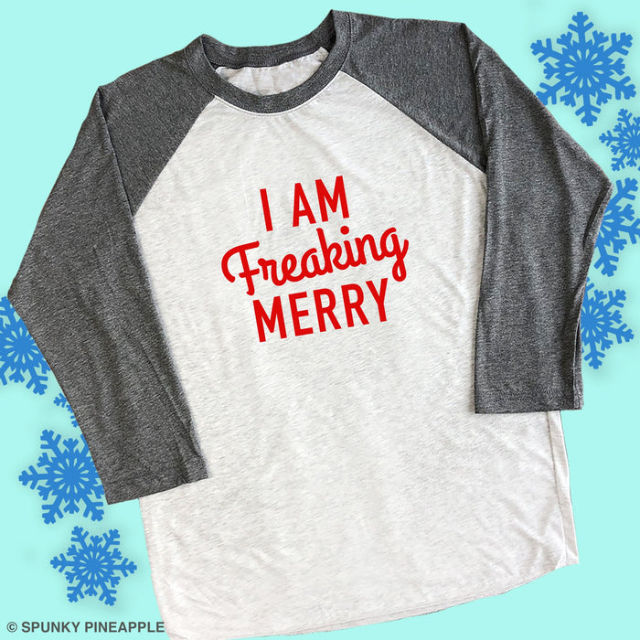 I am Freaking Merry Funny Christmas Shirt