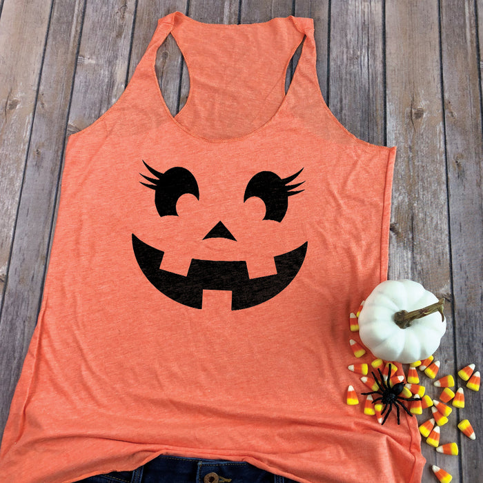 Jack-O-Latern Face Tank Top