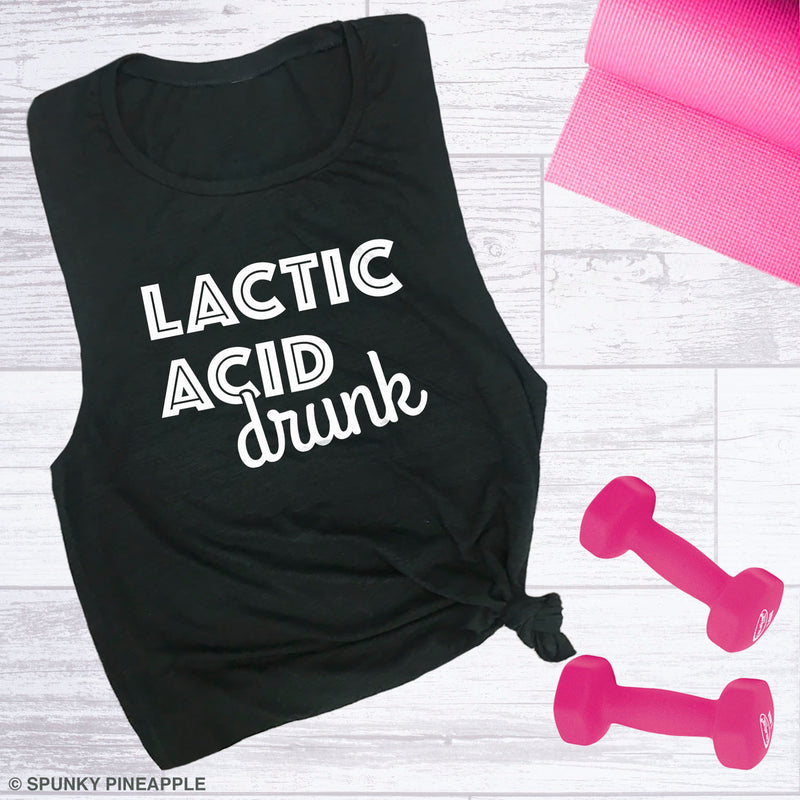Lactic Acid Drunk Activewear Muscle Tank for Women