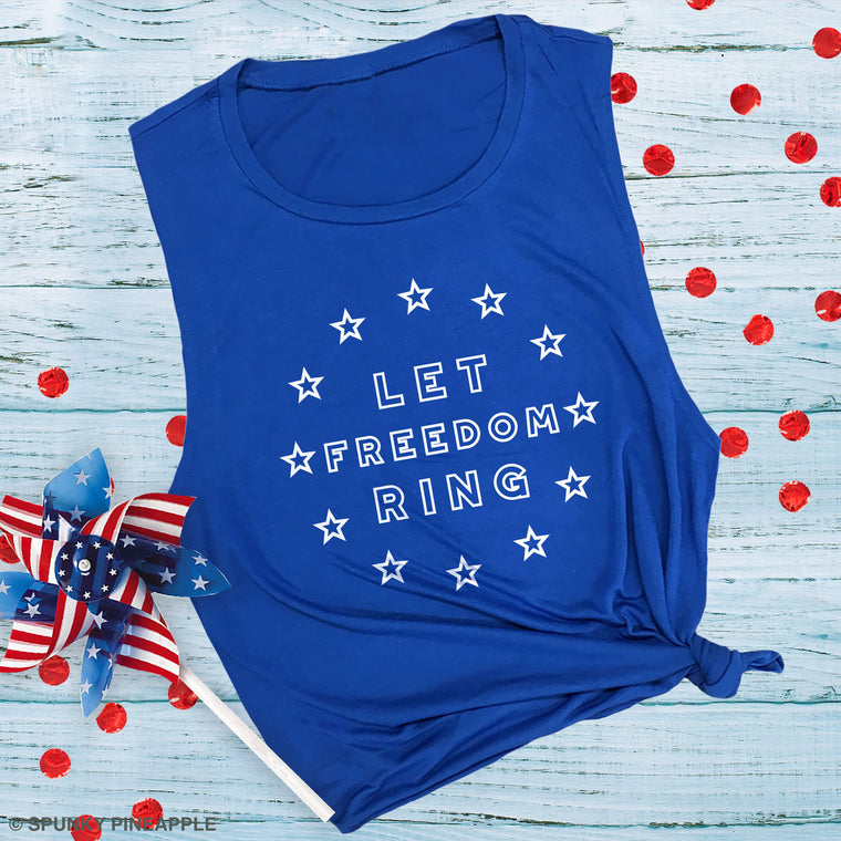 Let Freedom Ring Muscle Tee