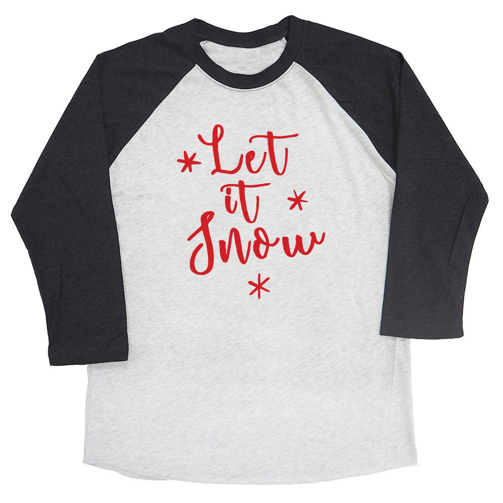 Let It Snow Raglan Tee
