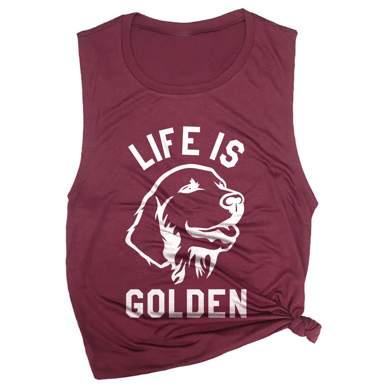 Life is Golden Muscle Tee