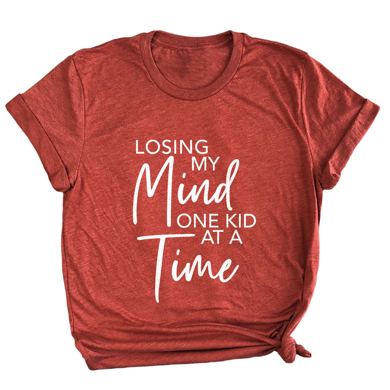 Losing My Mind One Kid at a Time Premium Unisex T-Shirt