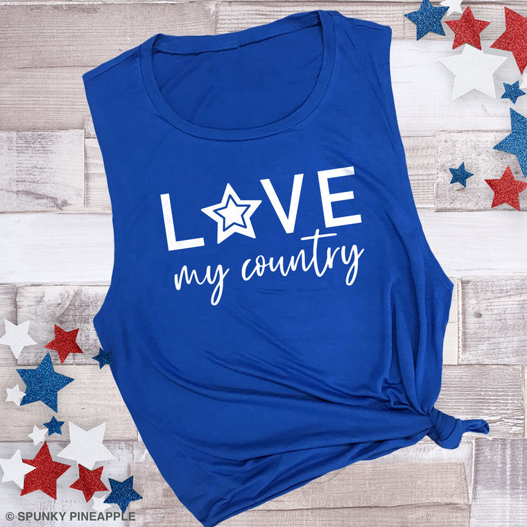 Love My Country Muscle Tee