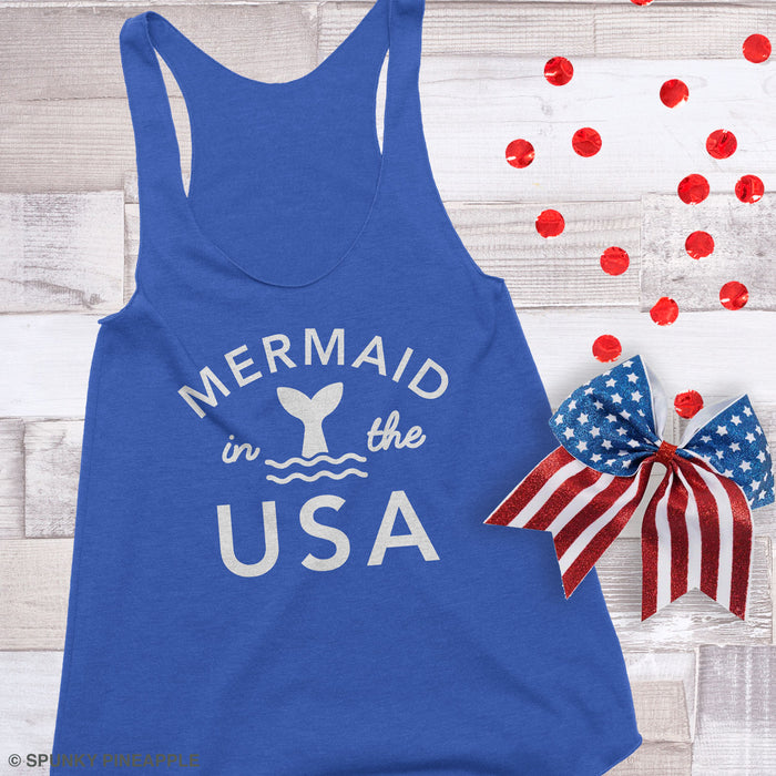 Mermaid in the USA Tank Top