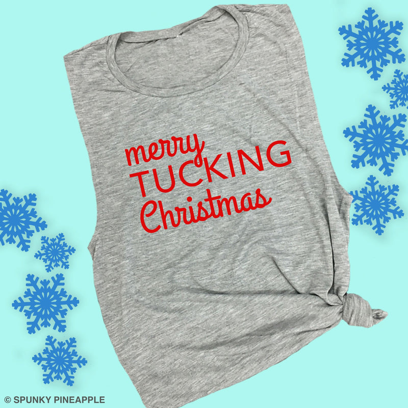 Merry Tucking Christmas Funny Barre Workout Shirt