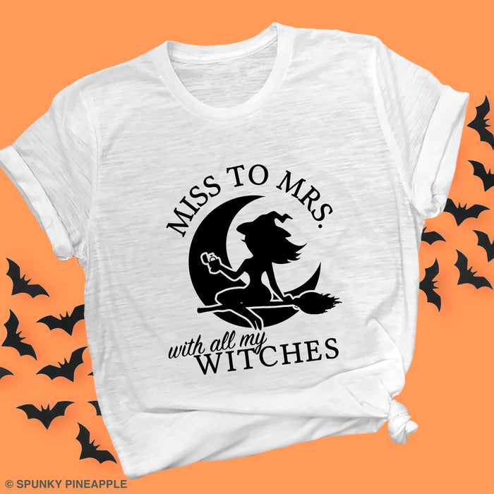Miss to Mrs. with All My Witches Premium Unisex T-Shirt