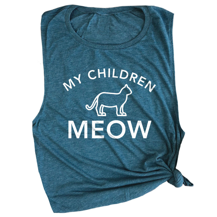 My Children Meow Muscle Tee