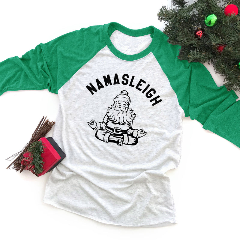 Namasleigh Funny Christmas Yoga Workout Shirt