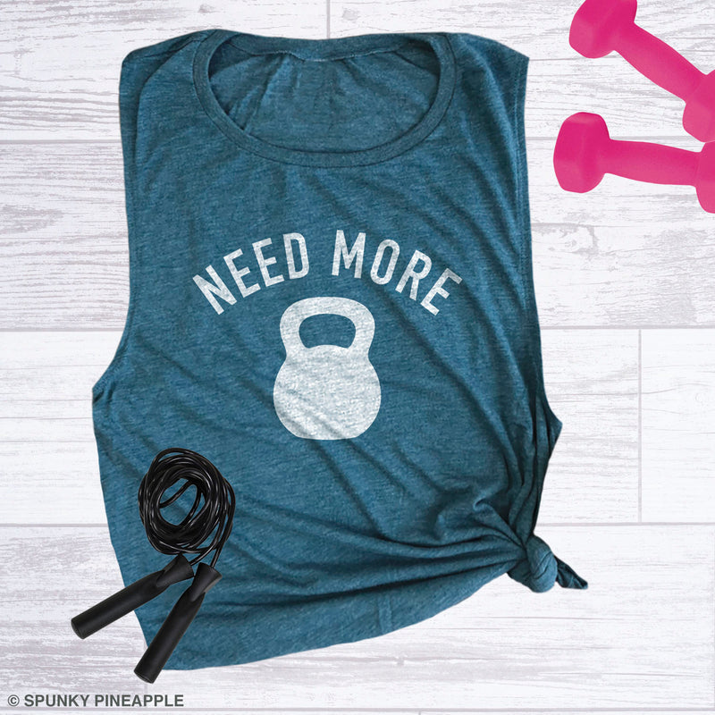 Need More Kettlebell Women's Workout Muscle Tee