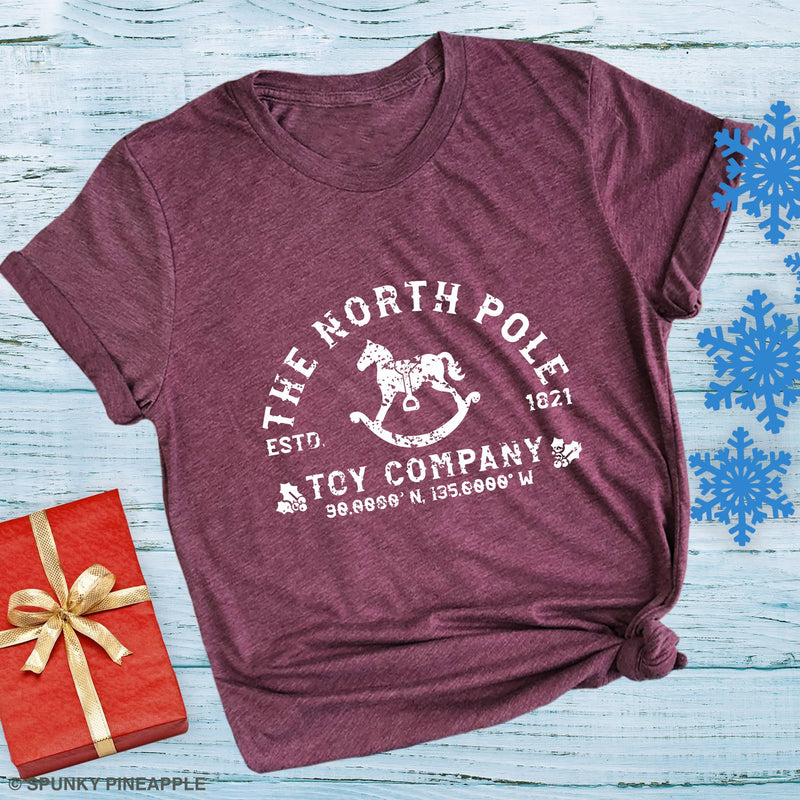 The North Pole Toy Company Cute Christmas shirts