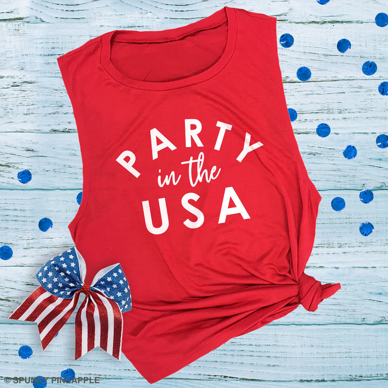 Party in the USA Muscle Tee