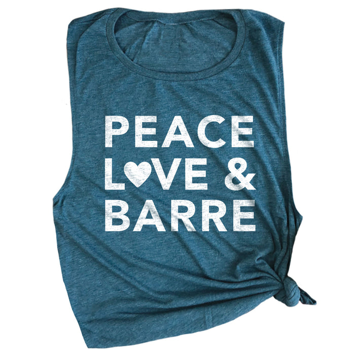 Peace, Love & Barre Muscle Tee
