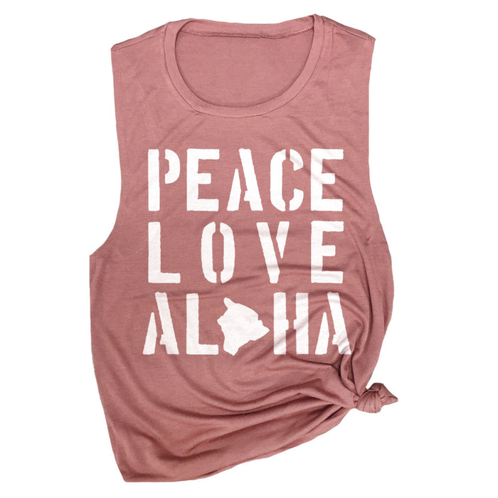 Peace Love Aloha Muscle Tee