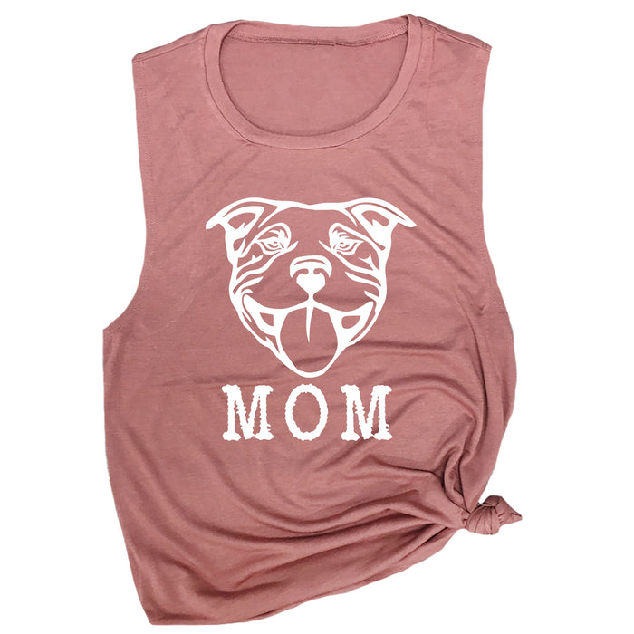Pitbull Mom Muscle Tee